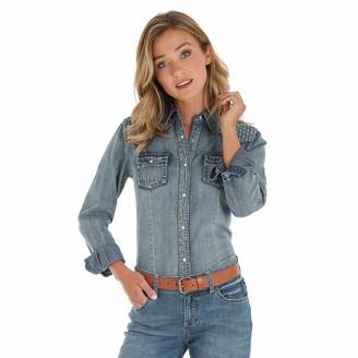 Wrangler Women's Long Sleeve Western Fashion Snap Shirt