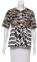 Suno Short Sleeve Printed Top