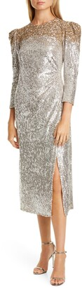 Sachin + Babi Ombre Sequin Cocktail Dress
