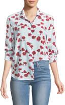Equipment Leema Long-Sleeve Button-Front Floral-Print Silk Shirt