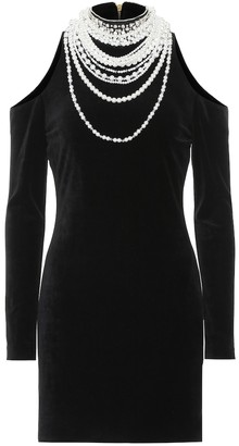 Balmain Embellished cotton-blend dress