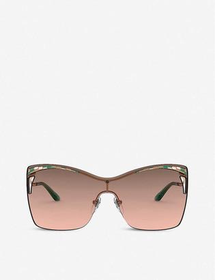 Bvlgari BV6138 40 cat eye-framed metal and polyamide sunglasses