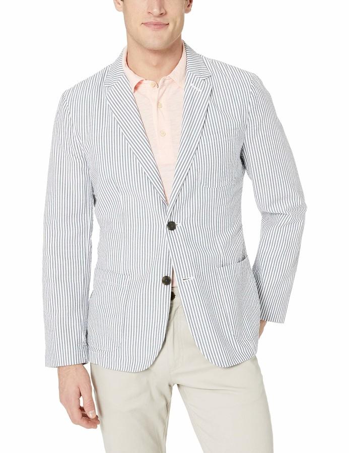 Mens Blue And White Blazer Shopstyle