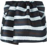 No.21 striped mini skirt