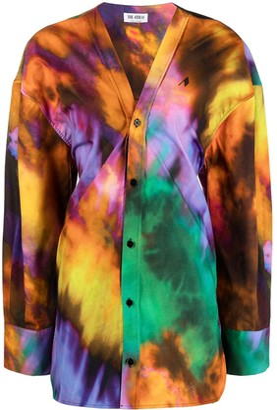ATTICO Oversized Tie-Dye Cotton Shirt