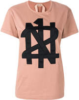 No.21 appliqué logo T-shirt