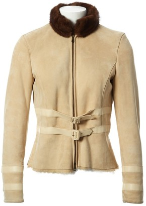 Valentino Beige Leather Jacket for Women