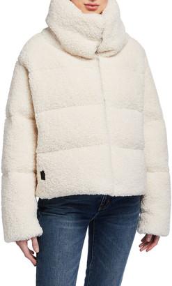 Bacon Reversible Faux Fur Down Coat