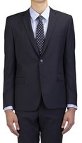 Versace Men's Wool Two-button Suit Blue Pinstriped.
