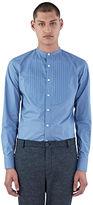Kolor Men's Pintuck Pleated Shirt In Blue