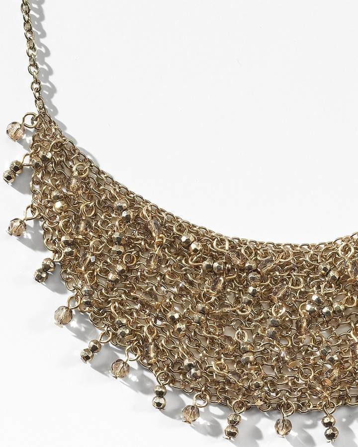 Coldwater Creek Chain and bead bib necklace