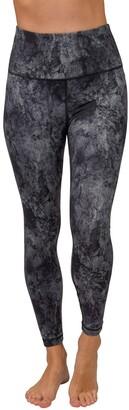 90 Degree By Reflex Marble Print High Waist Ankle Leggings