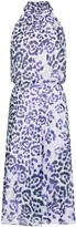 Adrianna Papell Watercolor Leopard Bias Dress