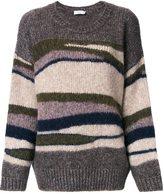 Closed striped oversized jumper
