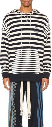 Loewe Stripe Hoodie in Ecru & Navy Blue   FWRD