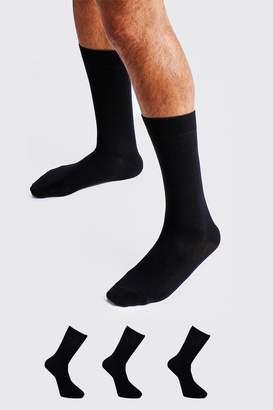 boohoo 3 Pack Plain Cotton Socks