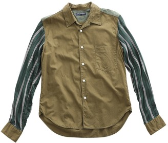 Comme des Garcons Green Cotton Shirts