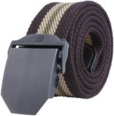 Kobwa(TM) Mens Slider Buckle Military Style Long Canvas Web Belt, with Kobwa's Keyring