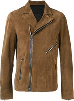RtA off centre zip jacket - men - Cotton/Polyester/Spandex/Elastane/Calf Suede - M