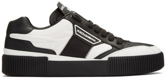 Dolce & Gabbana Black Lace-Up Sneakers