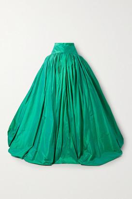 Christopher John Rogers Silk-taffeta Maxi Skirt - Jade