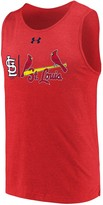 Under Armour Men's Heathered Red St. Louis Cardinals Dual Logo Performance Tri-Blend Tank Top