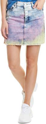 Zadig & Voltaire Juicy Tie And Dye Denim Mini Skirt