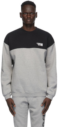 Vetements Black and Grey Cut Up Logo Sweatshirt