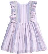 Pippa Pastourelle By And Julie Colorblock Stripe Ruffle Dress (Toddler Girls & Little Girls)