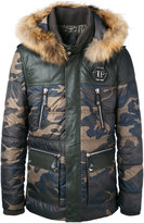 Philipp Plein The One parka - men - Lamb Skin/Polyester/Racoon Fur - M