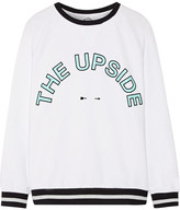 The Upside Sid Flocked Printed Cotton-terry Sweatshirt - White