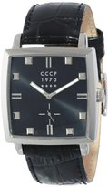 Cccp Men's CP-7009-04 St. Petersburg Analog Display Japanese Quartz Black Watch