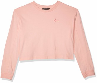 French Connection Women's Long Sleeve Jersey Crop Top