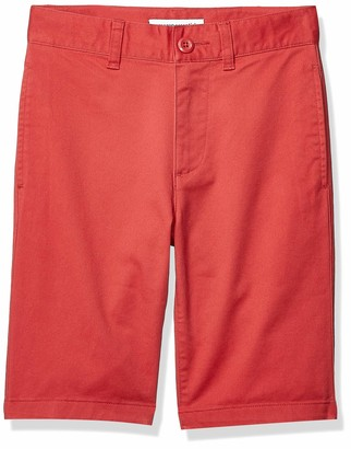 Amazon Essentials Flat Front Uniform Chino Short Khaki