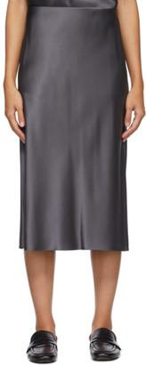 Joseph Grey Silk Isaak Skirt