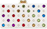 Edie Parker Jean Rainbow Jewel White Clutch