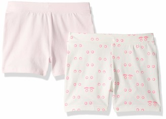 LOOK by crewcuts Girls' 2-Pack Tumble Short Eyes/Pink X-Small (4/5)