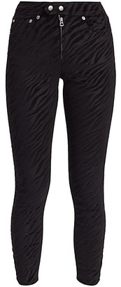 Rag & Bone Nina High-Rise Zebra-Stripe Ankle Skinny Jeans