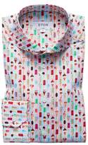 Eton Slim Fit Ice Cream Print Dress Shirt