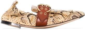 Chloé Roy snake-effect loafers