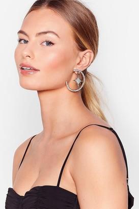 Nasty Gal Womens Star-t of Something Diamante Drop Earrings - Gold