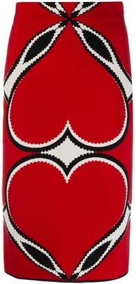 Alexander McQueen Intarsia Knit Skirt