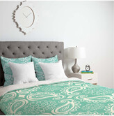 Deny Designs Heather Dutton Plush Paisley Seaspray Duvet Set
