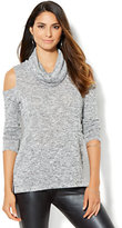 New York & Co. Streetwear - Cold-Shoulder Cowl-Neck Sweater
