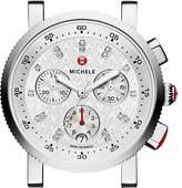 Michele Sport Sail 18 Diamond Watch Head, 38mm