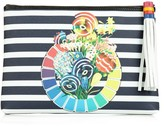 Mary Katrantzou Sailor colour wheel-print pouch