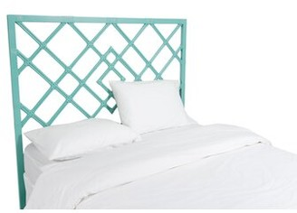David Francis Furniture Darien Open-Frame Headboard Color: Turquoise, Size: Queen
