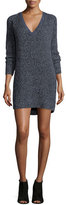 French Connection Naughty Brights Sweaterdress, Black/White