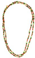 Gurhan Chrome Diopside, Peridot & Coral Delicate Flurries Necklace