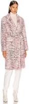 Sies Marjan Tatiana Printed Faux Fur Coat in Light Pink Zebra | FWRD